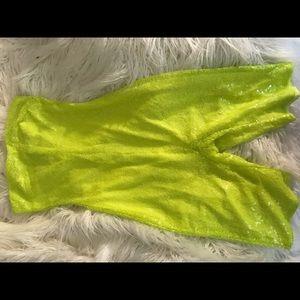 Pants - Neon yellow Kylie birthday bash inspired romper
